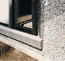 Pumice window sill design.